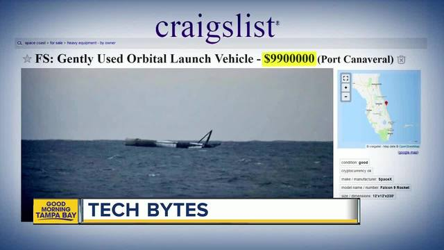 Gently used\u0027 SpaceX rocket for sale on Craigslist - TMJ4 Milwaukee, WI