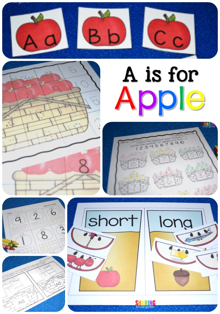 A is for Apple - Sharing Kindergarten - letter of recognition
