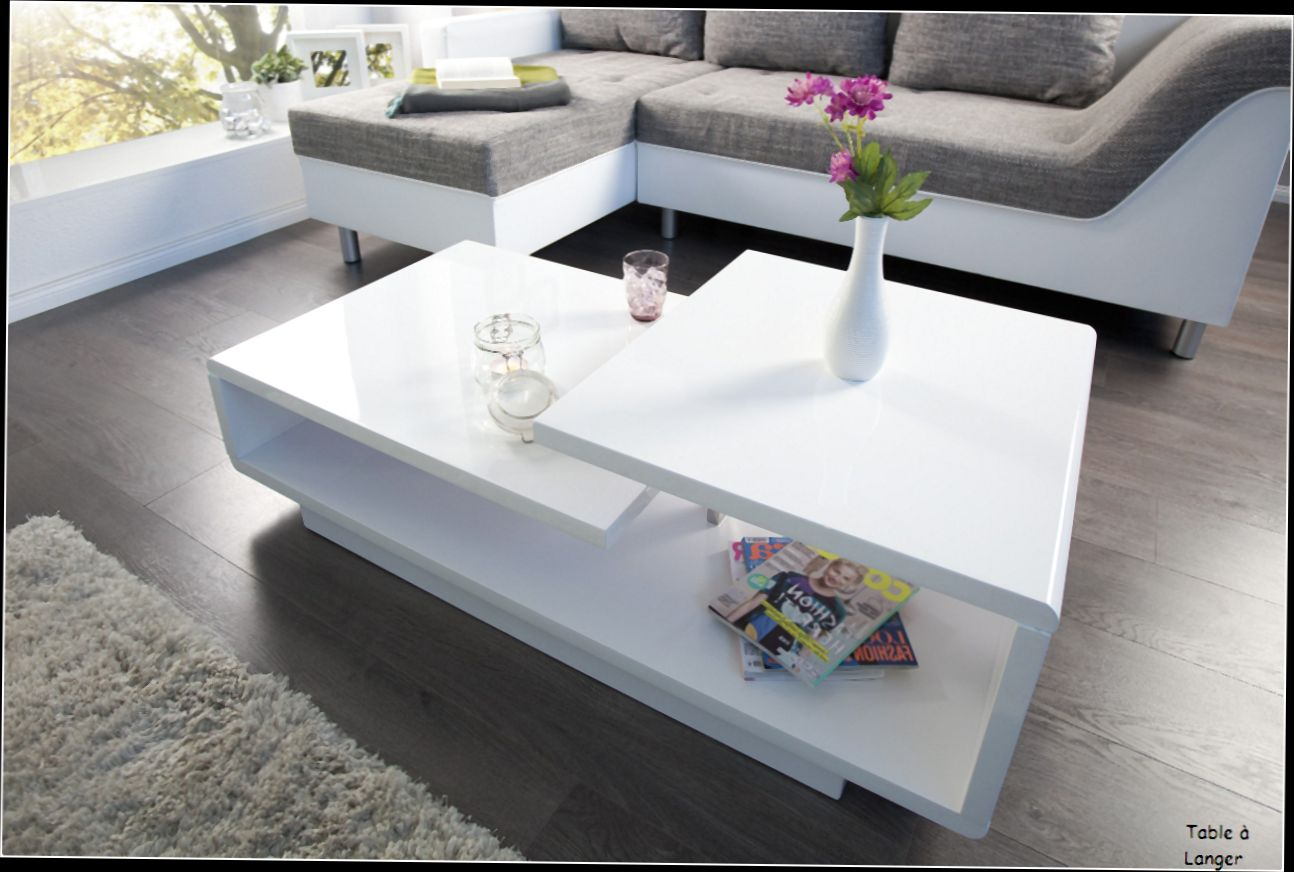 Table Basse Relevable Blanc Laqué Table Basse Blanc Laqué Design