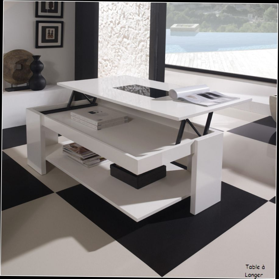 Table Reglable Hauteur Fly Table Basse Relevable Alinea Table Basse Relevable Extensible