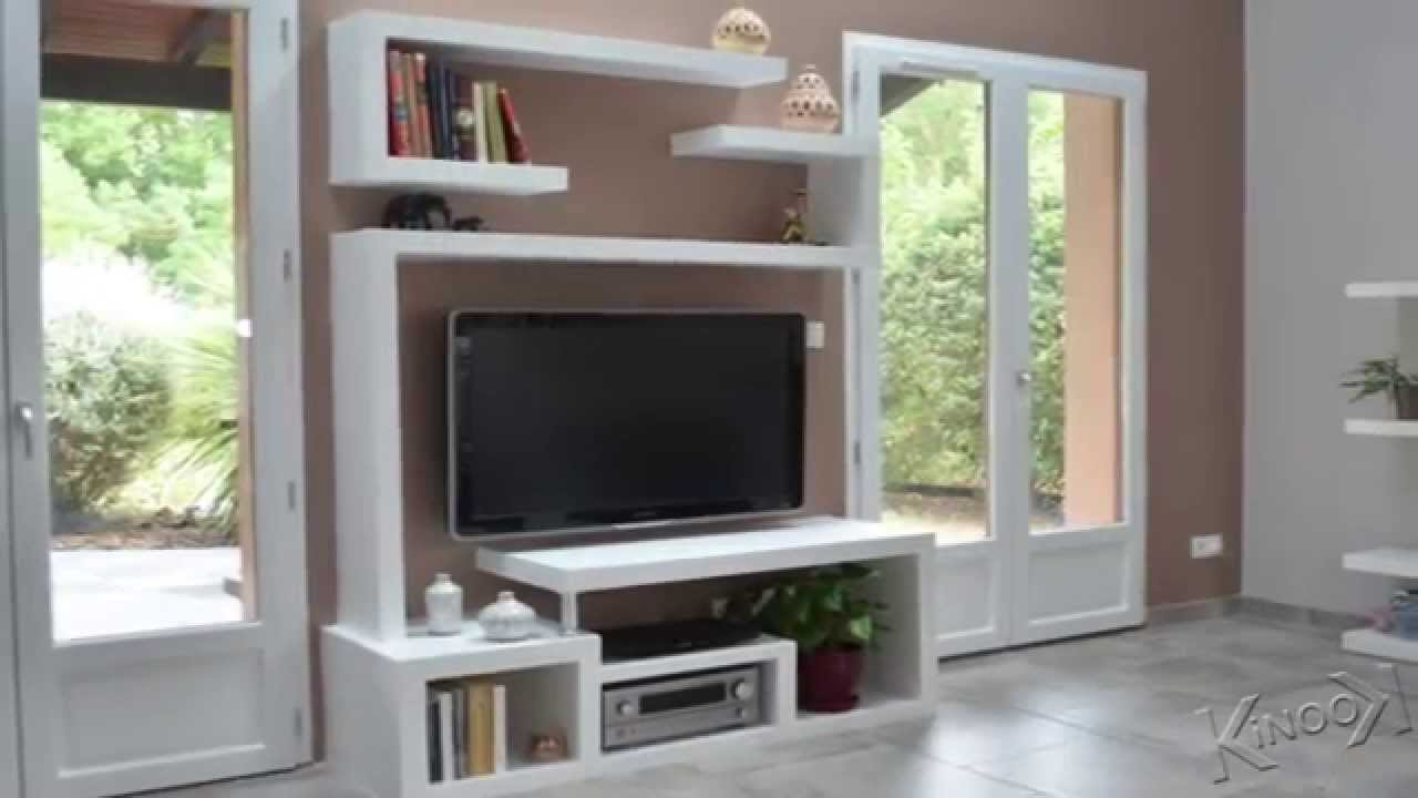Faire Un Meuble Comment Faire Un Meuble Tv En Placo - Mobilier Design