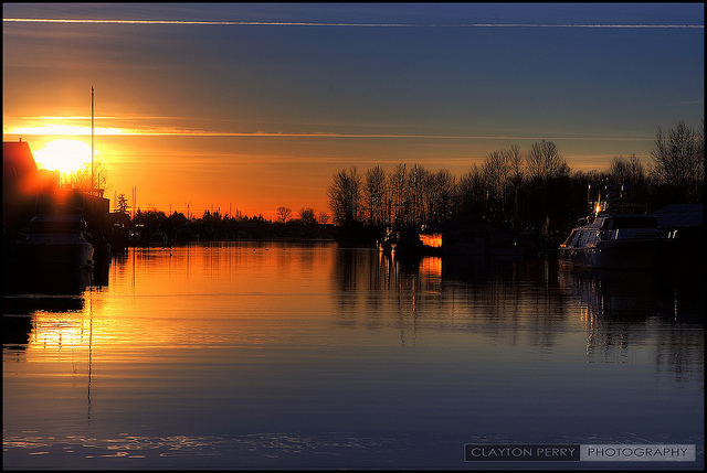 A gorgeous Ladner Sunset