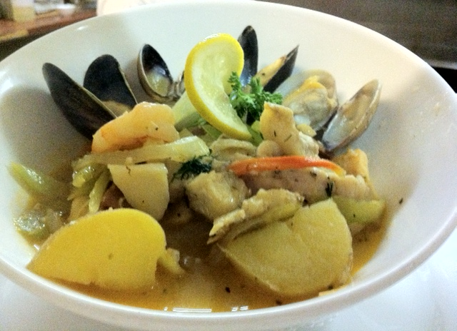 Mussles and Haddock Stew