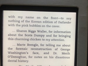 From the acknowledgements in Written in My Own Heart's Blood by Diana Gabaldon