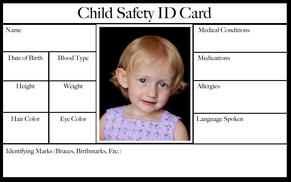 Child Safety ID Cards \u2013 Sharon Gaietto Photography