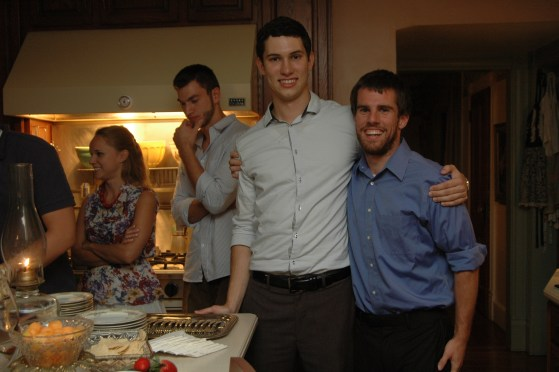 Jonathan and Matt-His best friend, Hannah and Ryan in background