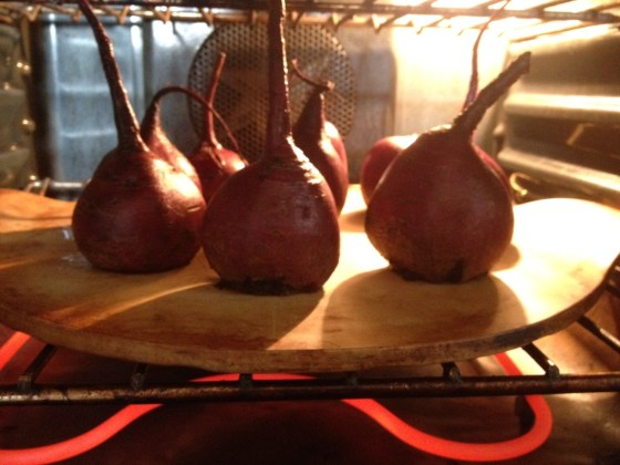Beets in 300 degree oven for three hours