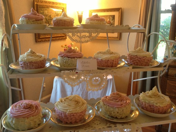 Cupcakes made in large cupcake pans with 1/2 pound of frosting on each! A sweetaholic's dream come true!