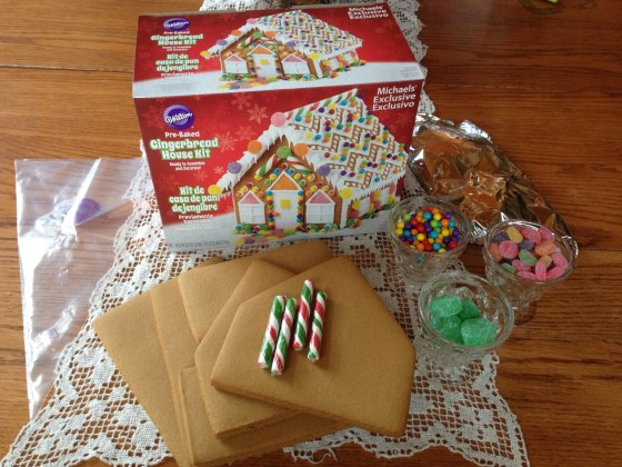 Winner of this weeks drawing will win this gingerbread house kit! Winner drawn next week.