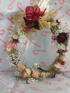 Artisanal Dried Flower Wreath, Handmade