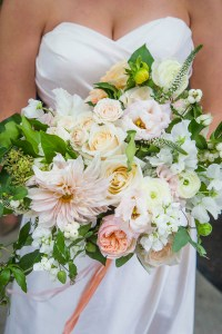 Toronto Wedding Queen Street Burroughes City Cascading Bouquet