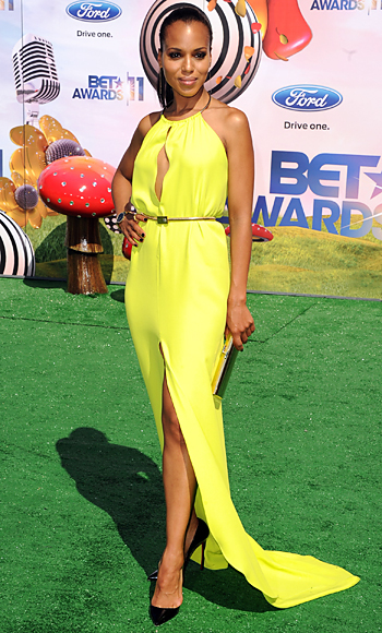 Kerry washington bet awards 2011 green dress