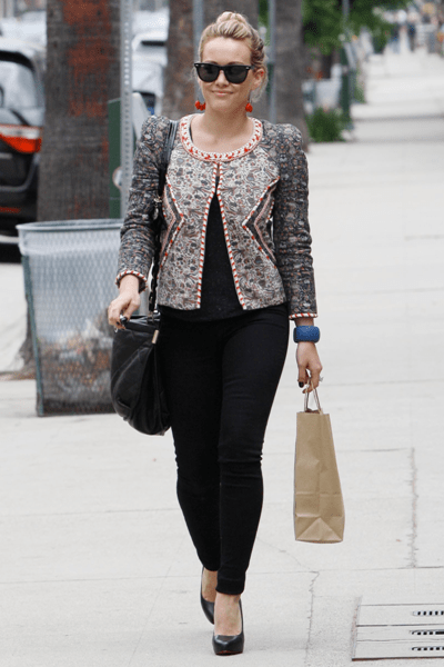 hilary duff in isabel marant jacket