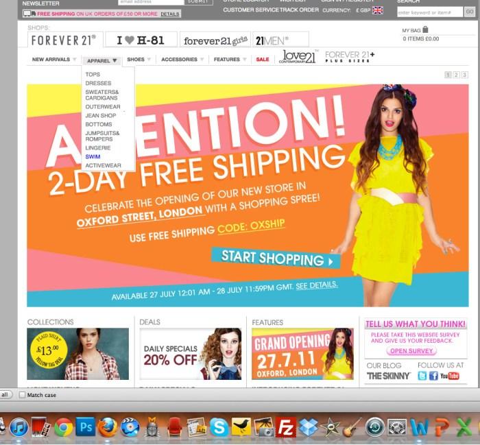 forever21 online store