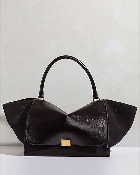 celine large trapeze in vernice black