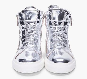 giuseppe silver mirror sneakers