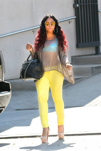 Ashanti yellow jeans