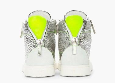 Silver giuseppe zanotti sneakers green