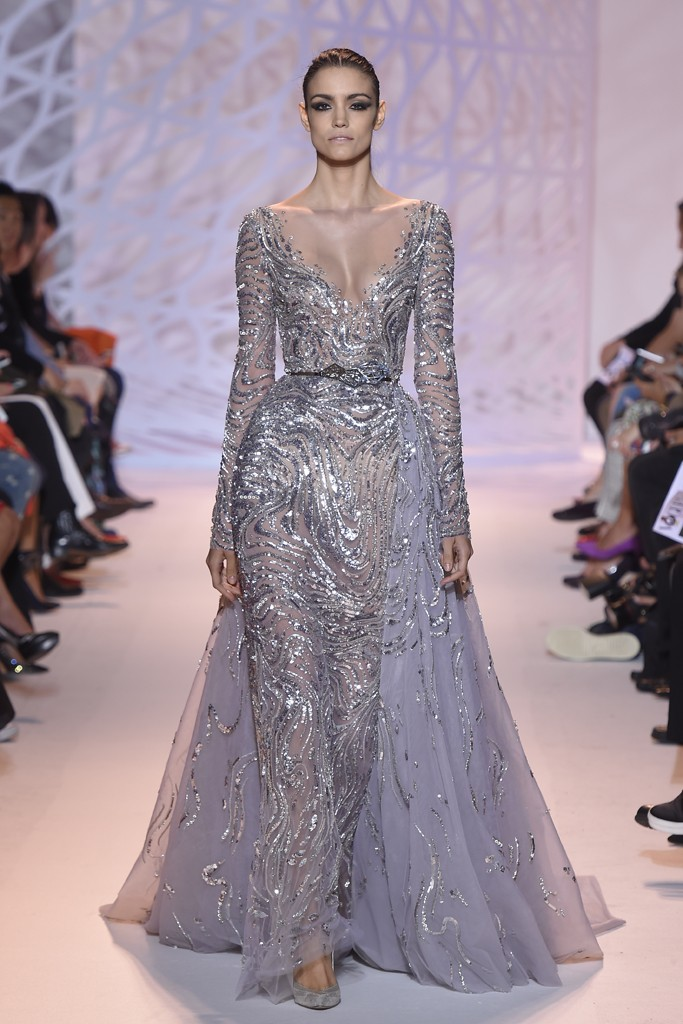 zuhair murad 2014 collection silver dress