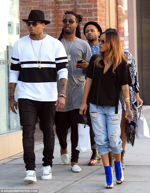 chris brown with tran iphone 6