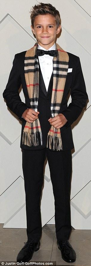 romeo beckham in suit
