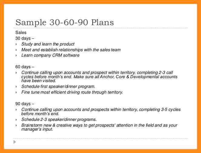 90 day action plan templates - Thevillas