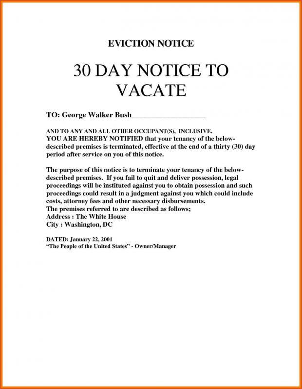 30 Day Eviction Notice Template shatterlioninfo