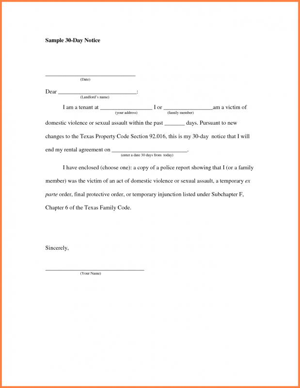 30 Day Notice To Landlord California Template shatterlioninfo - 30 Day Notice Template