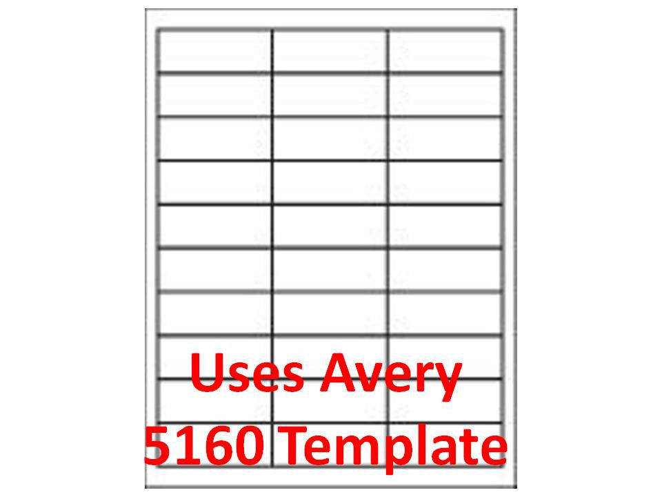 5160 label template word