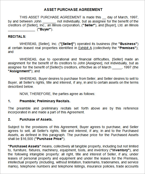 Business Purchase Agreement - Design Templates