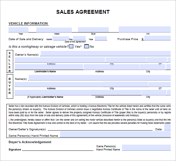 sale agreement template word - Josemulinohouse - ms word for sale