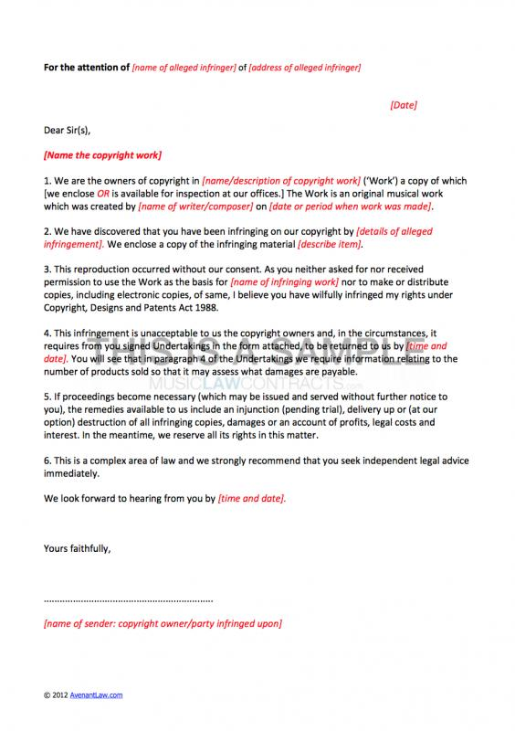 Cease And Desist Letter Template shatterlioninfo - cease and desist letter template