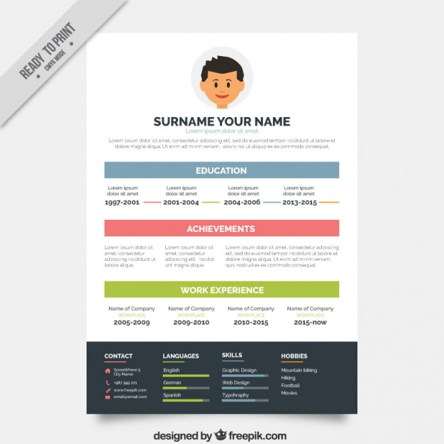 Colorful Resume Templates shatterlioninfo
