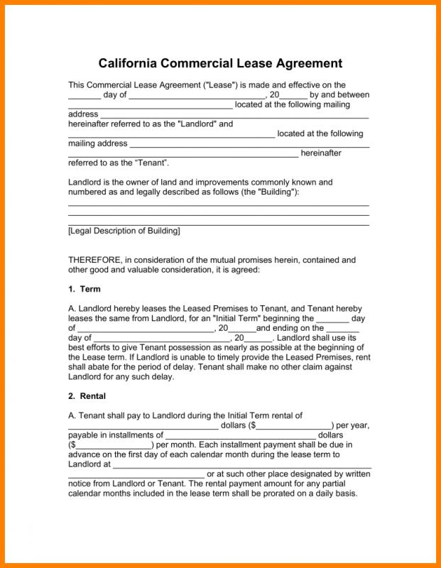 Commercial Lease Agreement Template Word shatterlioninfo - commercial tenancy agreement template