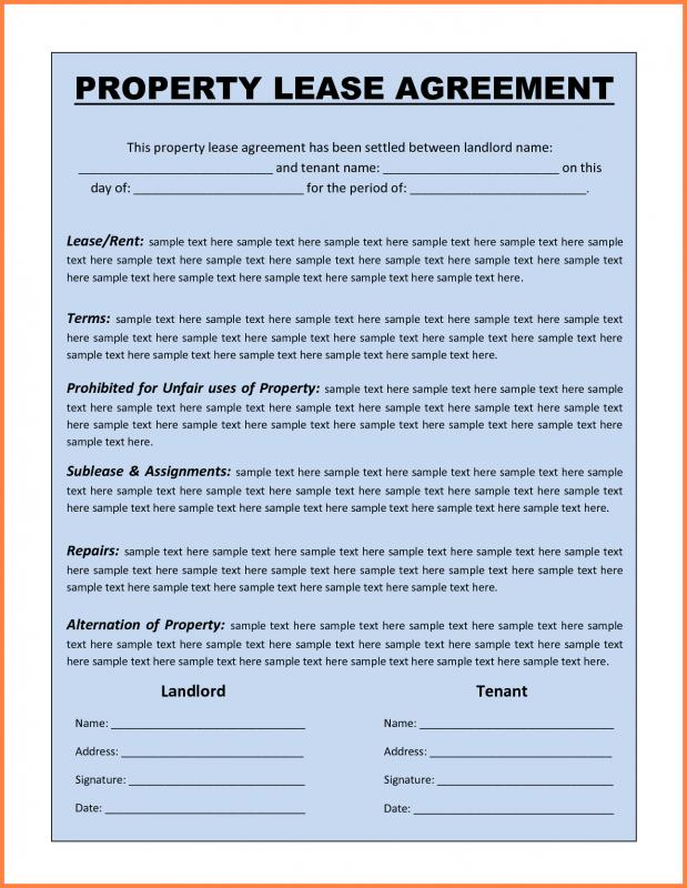 Commercial Lease Agreement Template Word shatterlioninfo - property lease agreement template
