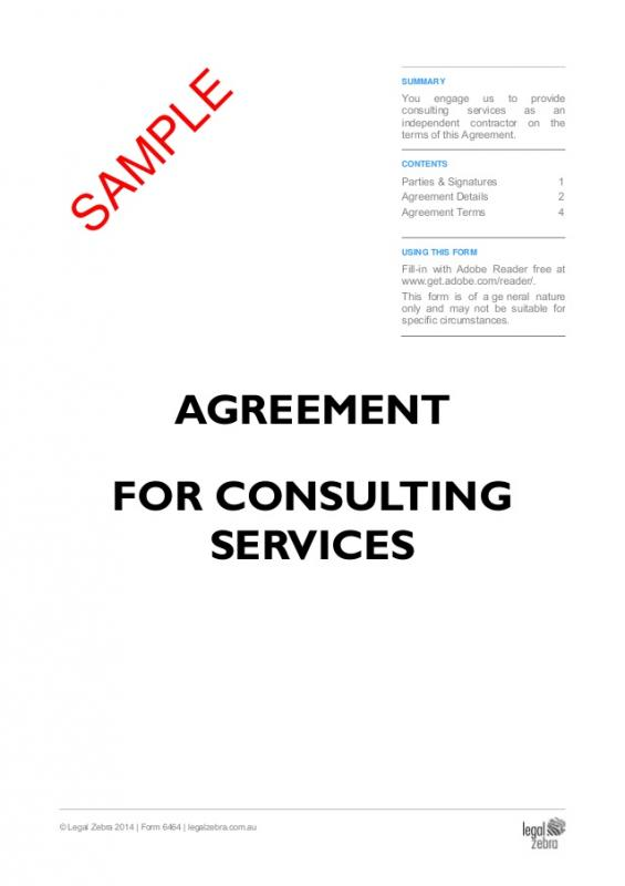 Consulting Agreement Template shatterlioninfo