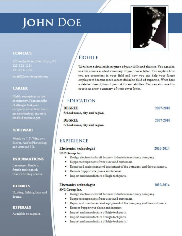 Cv Templates Free Download Word Document shatterlioninfo - download free templates for word