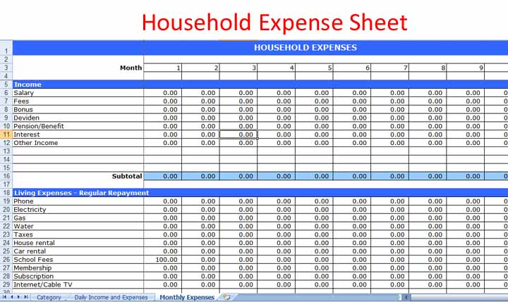 Expense Tracker Template shatterlioninfo - home expense tracker excel template