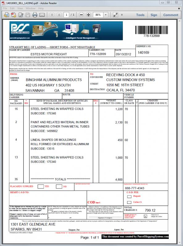 Free Bill Of Lading Template Excel shatterlioninfo - free bill of lading