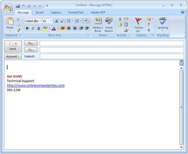 Free Email Signature Templates For Outlook shatterlioninfo - outlook signature template