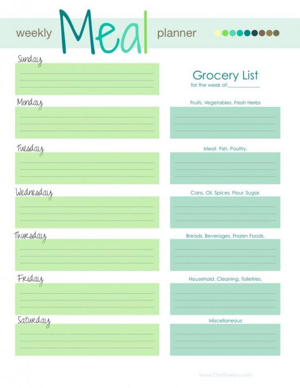 Free Meal Planner Template shatterlioninfo - free menu planner template