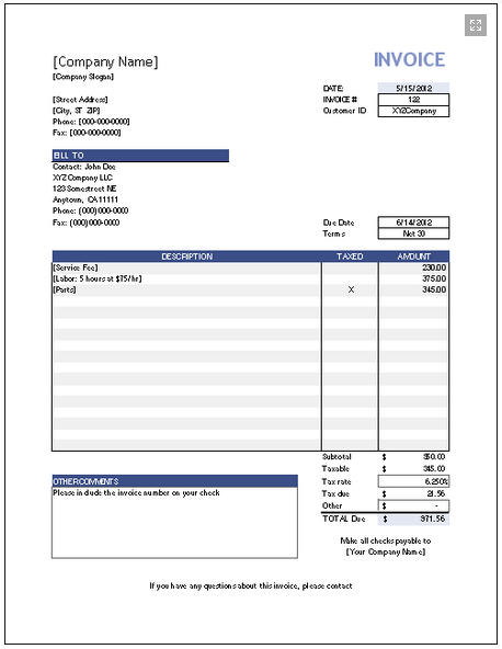 online invoice free - Intoanysearch