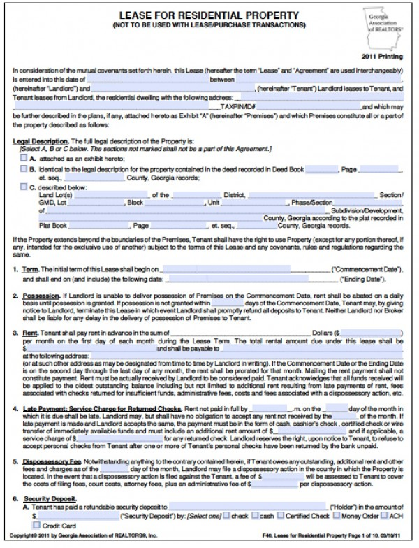 Free Sublease Agreement Template Image collections - Agreement