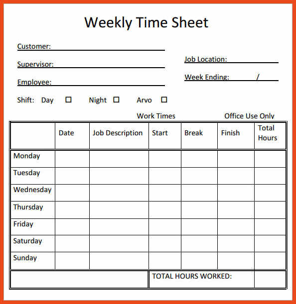 consultant template free and time card templates inspirational - free timesheet forms