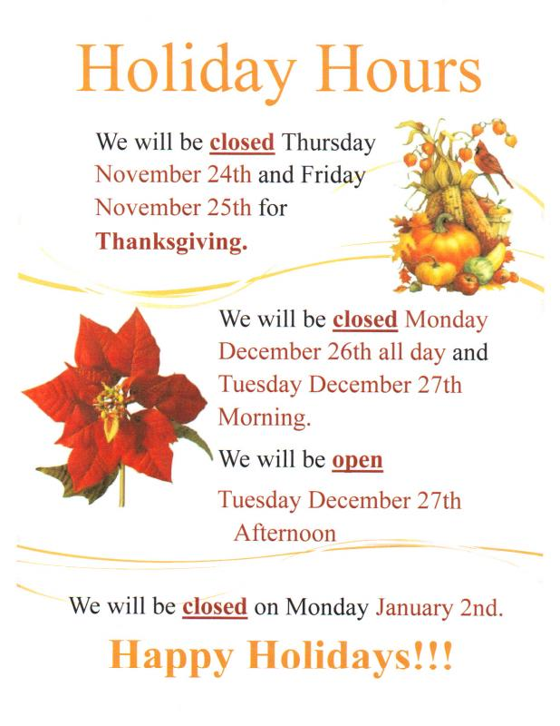 holiday closure sign template - Goalgoodwinmetals