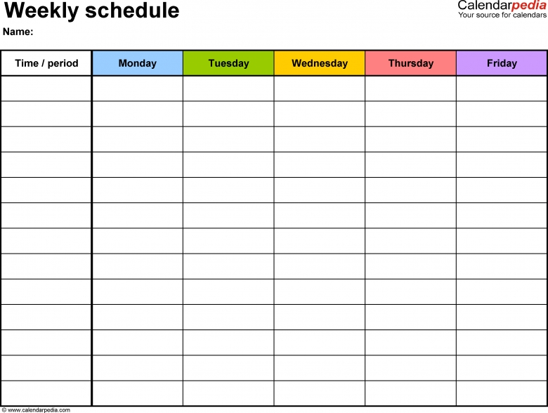 Hourly Schedule Template Excel shatterlioninfo