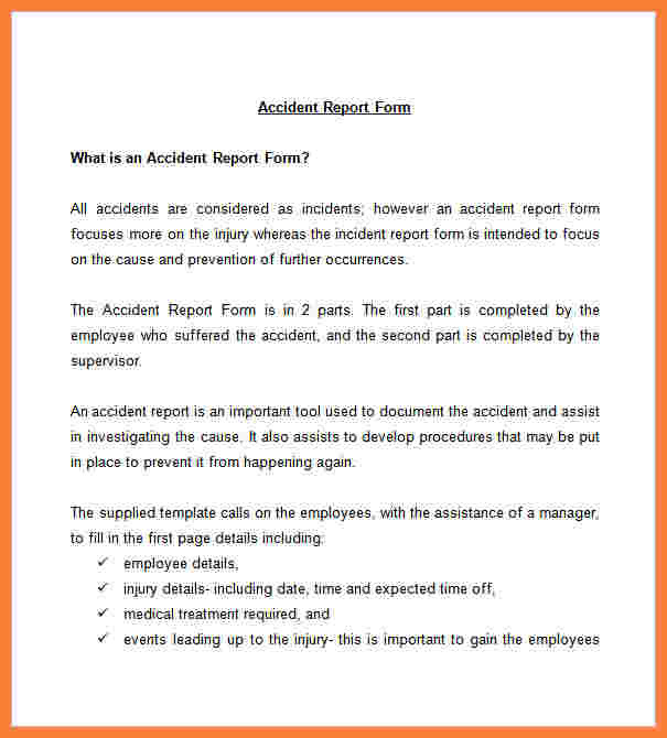 Incident Report Template shatterlioninfo - what is it incident report