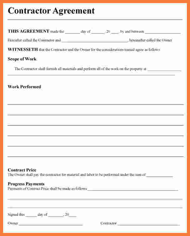 Independent Contractor Agreement Template shatterlioninfo