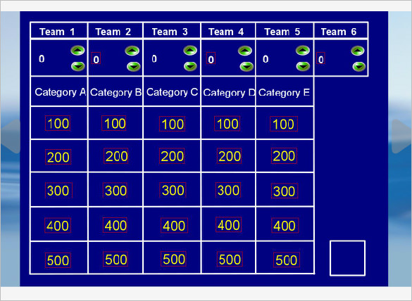 Jeopardy Powerpoint Template 6 Categories shatterlioninfo - jeopardy powerpoint template