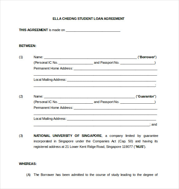 Loan Contract Template shatterlioninfo - loan contract template word